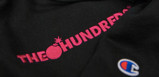 The Hundreds Champion Reverse Weave Fleece & Heritage Tee collection
