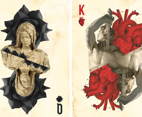 THIS COLLAGE ARTIST MAKES PLAYING CARDS FIT FOR THE TUMBLR GENERATION