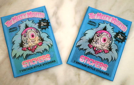 Not your average trading cards :: Buff Monster's Melty Misfits series 2