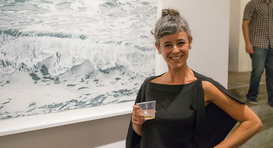 "Opening Night :: Zaria Forman's ""SLIP"" at Winston Wächter Fine Art, New York"