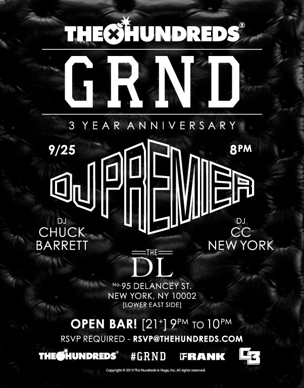 "The Hundreds ""GRND"" 3 Year Anniversary Party"