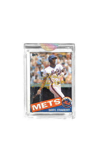 Gold Edition: Darryl Strawberry Topps Card by Bobby Hundreds