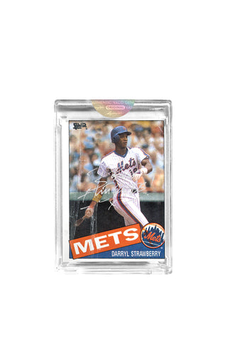 Silver Edition: Darryl Strawberry Topps Card by Bobby Hundreds