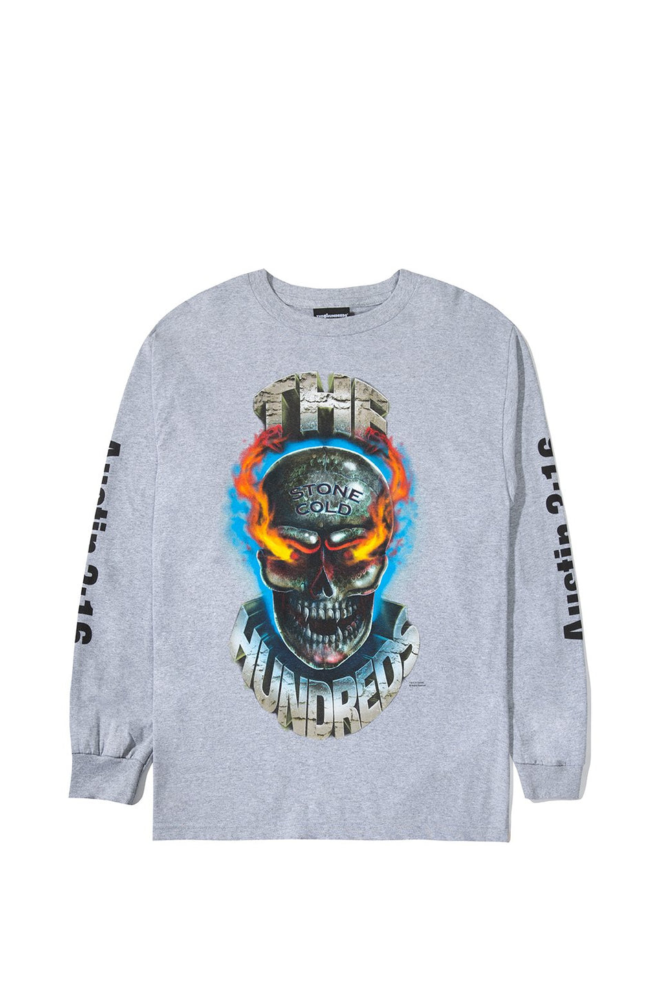 Flaming Skull L/S Shirt