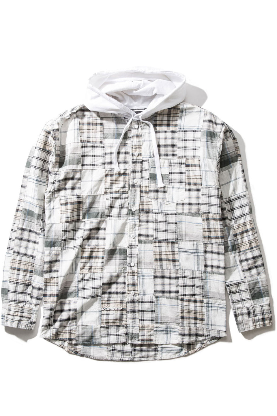 Madras Hooded Button-Up