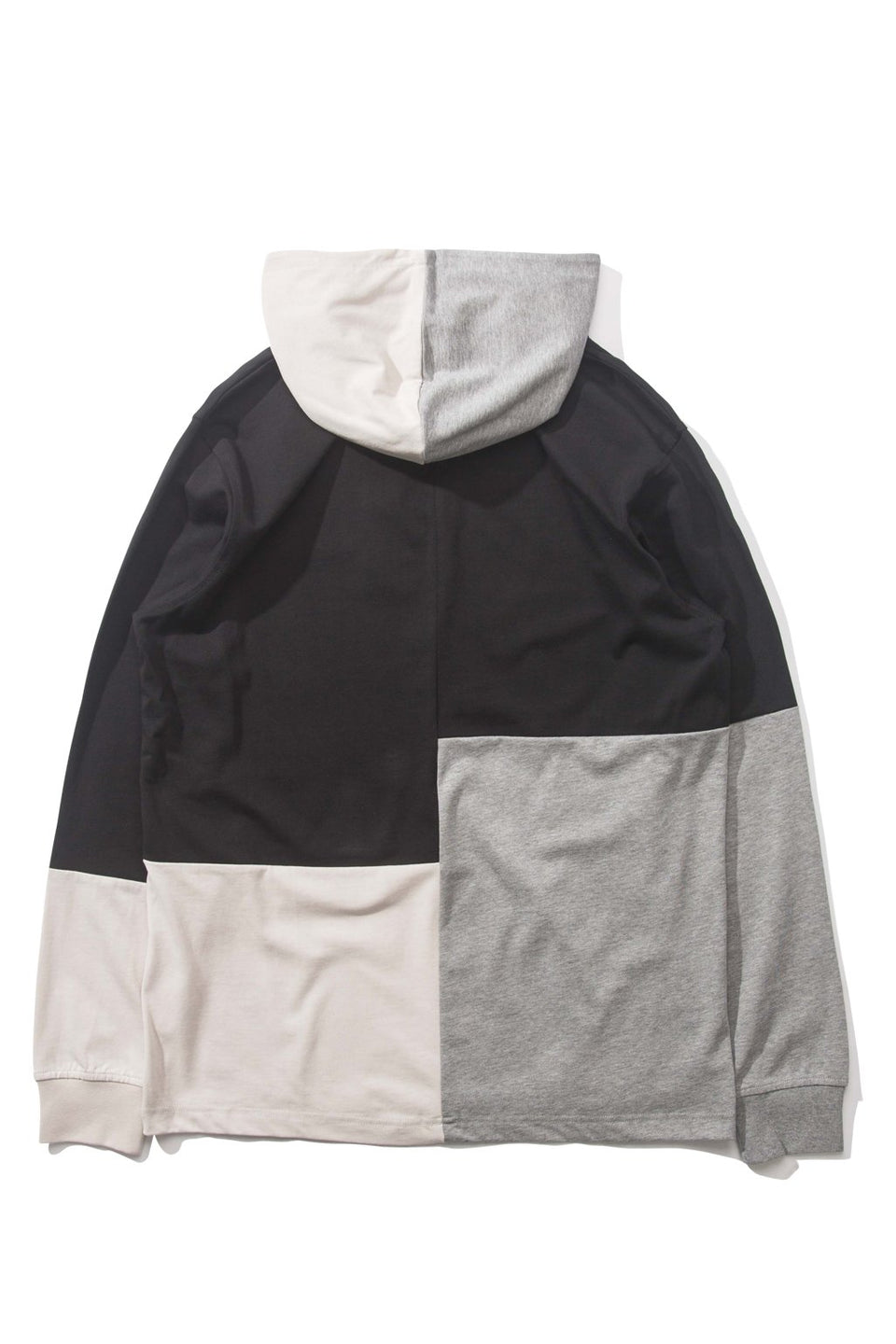 Abstract Hooded L/S Shirt
