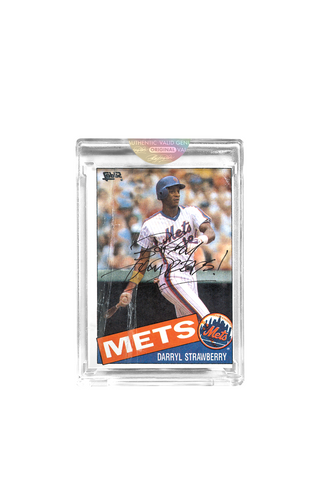 Black Edition: Darryl Strawberry Topps Card by Bobby Hundreds