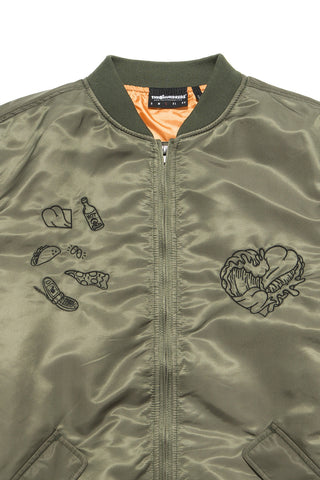 MA-1 Waves Bomber Jacket