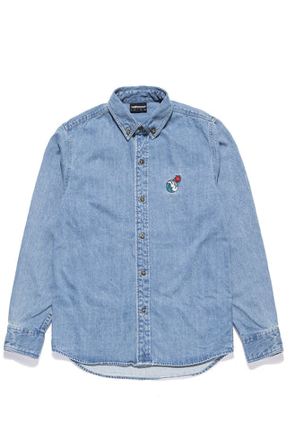 Waves Denim Button-Up