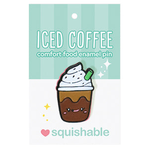 Iced Coffee Enamel Pin