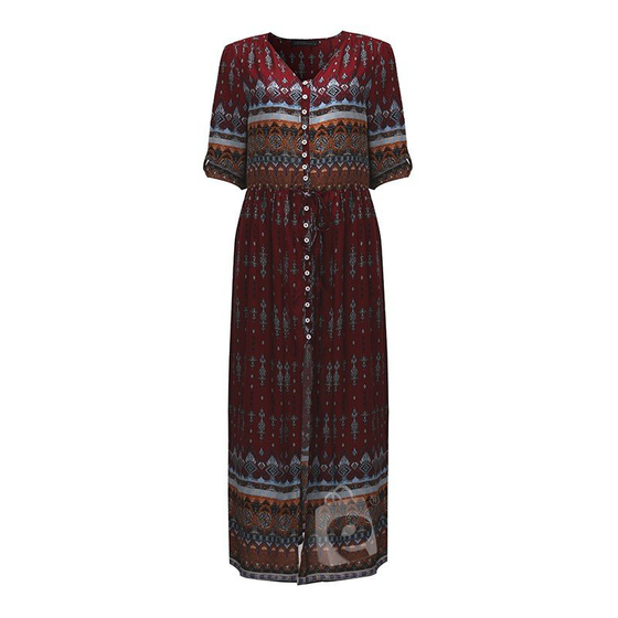 e-millennialstore Boho Long Sleeves Dress