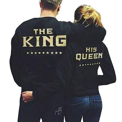 e-millennialstore Couple Hoodies - King & Queen 2017 Edition