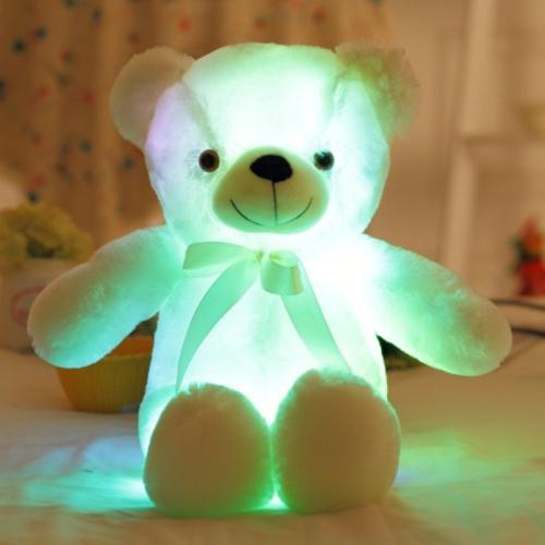 e-millennialstore White The Amazing LED Teddy - FREE SHIPPING