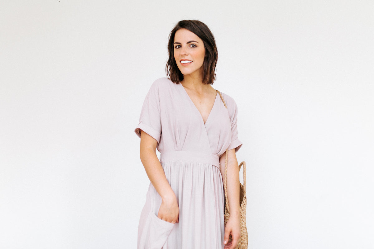 This dress is to die for - so long, such a pretty color, and perfect for fall! | Lime Ricki Wardrobe | Shop on limericki.com | #limericki #modestdresses #fallfashion