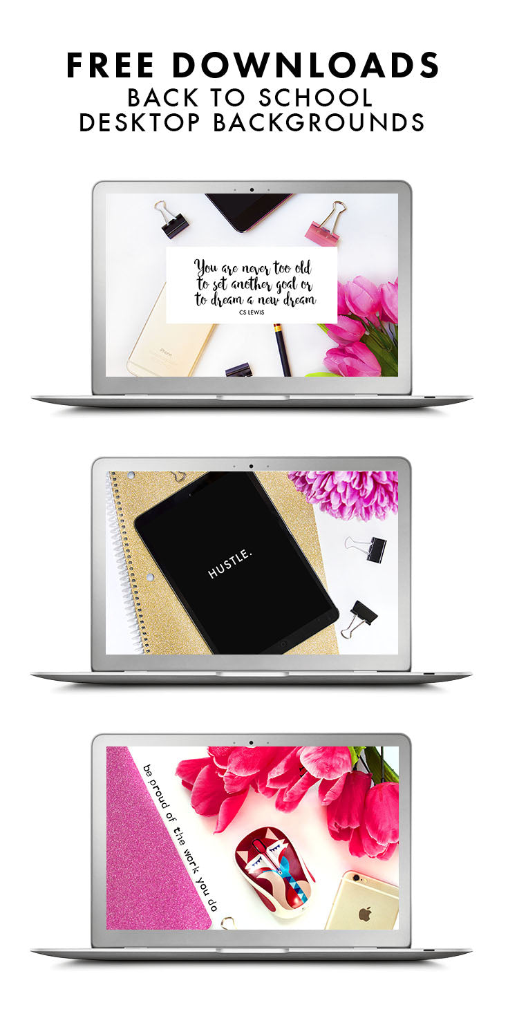Cutest back to school desktop and phone downloads! These almost make me happy to go back to school!