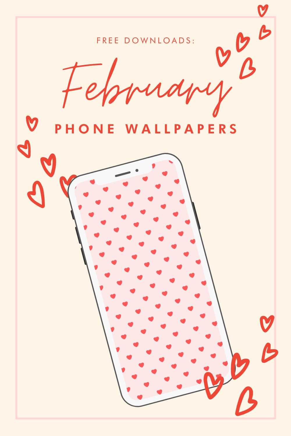 Free Downloads: February Phone Wallpapers