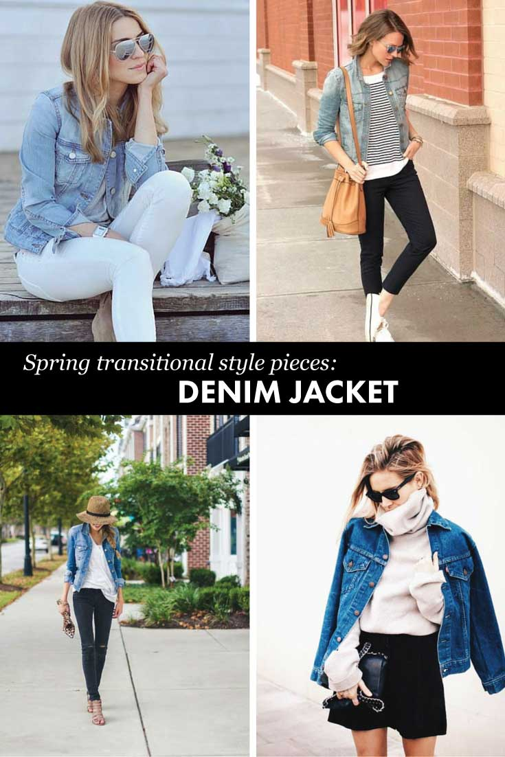 Must have transitional pieces for spring: denim jackets!