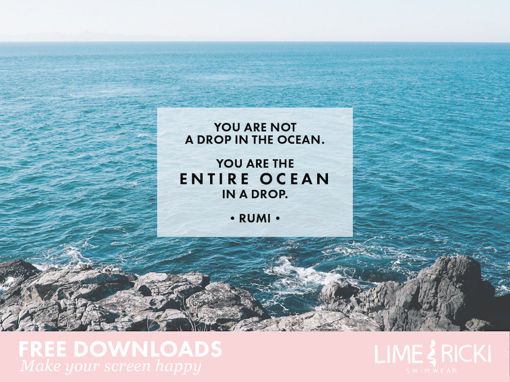These ocean-inspired free desktop backgrounds are perfection!
