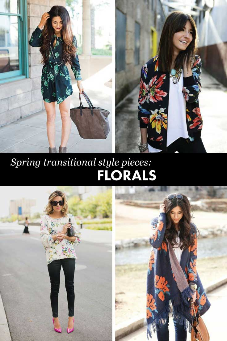 Must have transitional pieces for spring: florals!