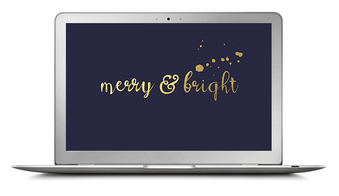 Merry and bright computer