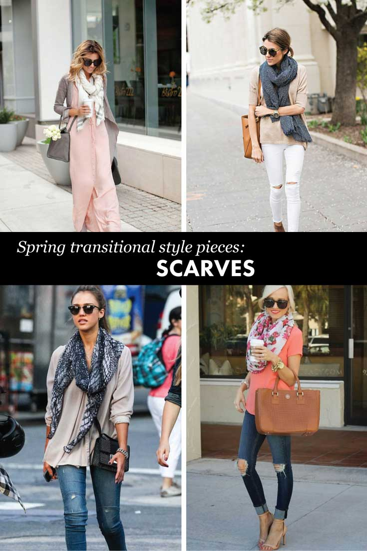Must have transitional pieces for spring: scarves!