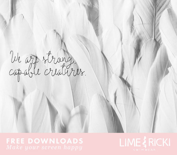 Beautiful free desktop and phone backgrounds on body positivity. Live empowered with Lime Ricki no. 6.