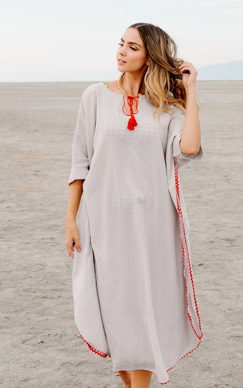 Red Tassel Cover-Up