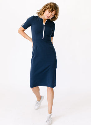 Midi Zipper Dress