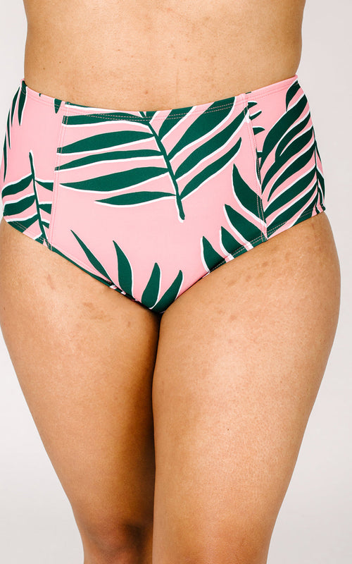 Palm Leaf High-Waist Bottom