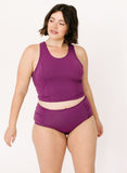 Plum Ruched Bottom