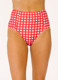 Red Gingham High-Waist Bottom