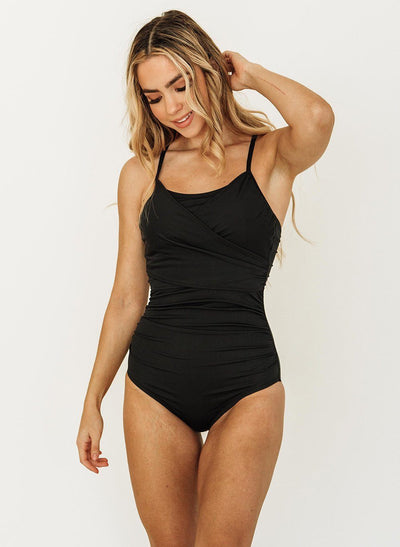 Black Wrap One-Piece - XXS / Black