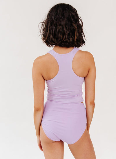Lavender Racer-Back Crop Top - XXS