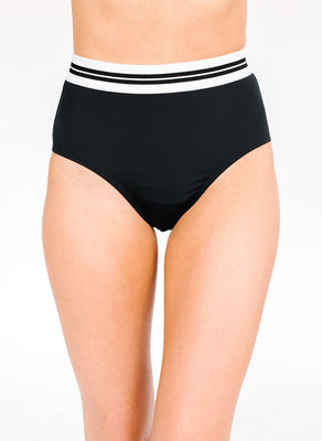 Black Mid-Waist Bottom | Final Sale