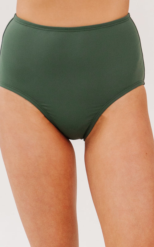 Olive High-Waist Bottom