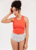 Persimmon Racer-Back Crop Top