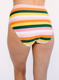 Rainbow Stripe Mid-Waist Bottom