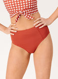 Rust High-Waist Bottom