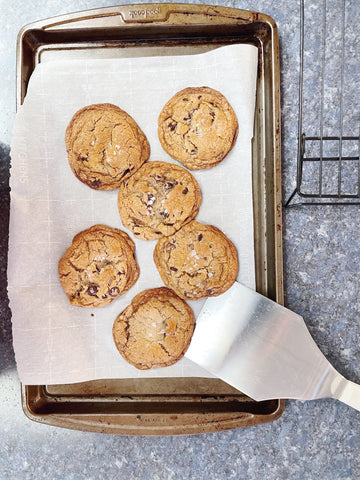 Browned Butter and Toffee Chocolate Chip cookies