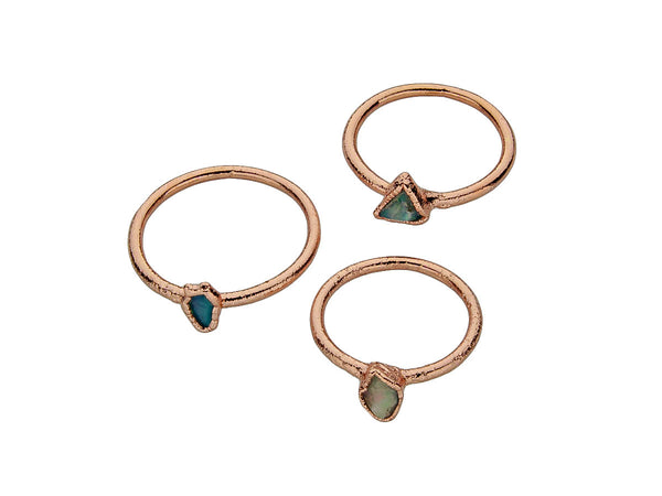 October Birthstone Jewelry | Opal Stacking Ring-Ring-Drishti Handmade