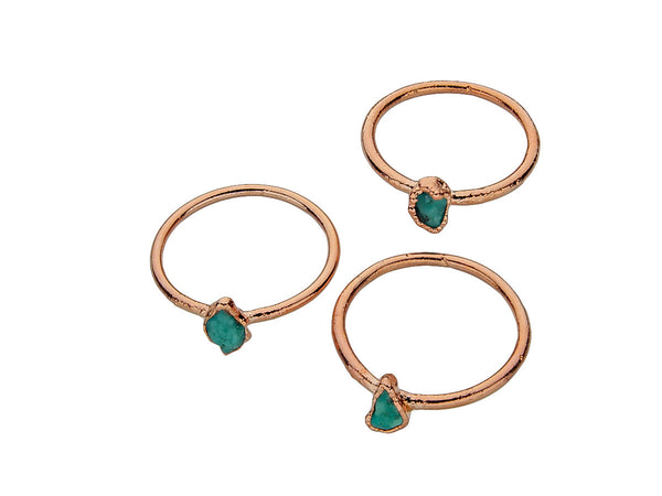 December Birthstone Jewelry | Turquoise Stacking Ring-Ring-Drishti Handmade