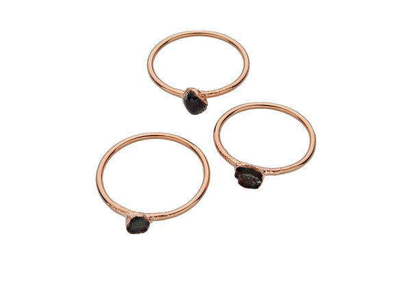 January Birthstone Jewelry | Garnet Stacking Ring