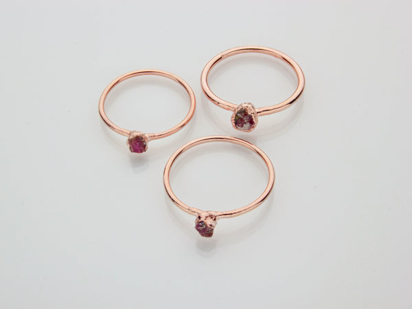 July Birthstone Jewelry | Ruby Stacking Ring-Ring-Drishti Handmade