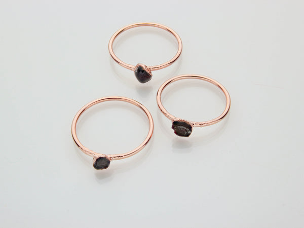 January Birthstone Jewelry | Garnet Stacking Ring-Ring-Drishti Handmade