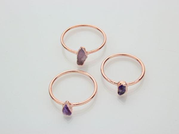 February Birthstone Jewelry | Amethyst Stacking Ring-Ring-Drishti Handmade