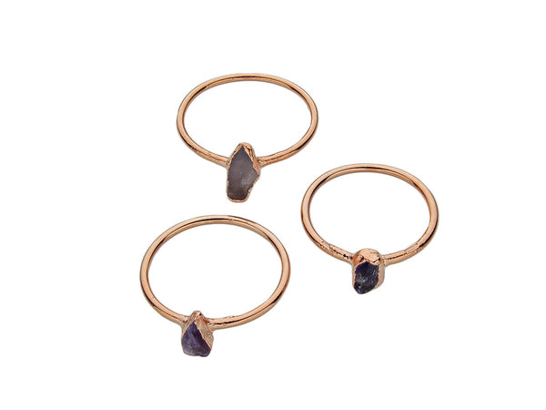 February Birthstone Jewelry | Amethyst Stacking Ring