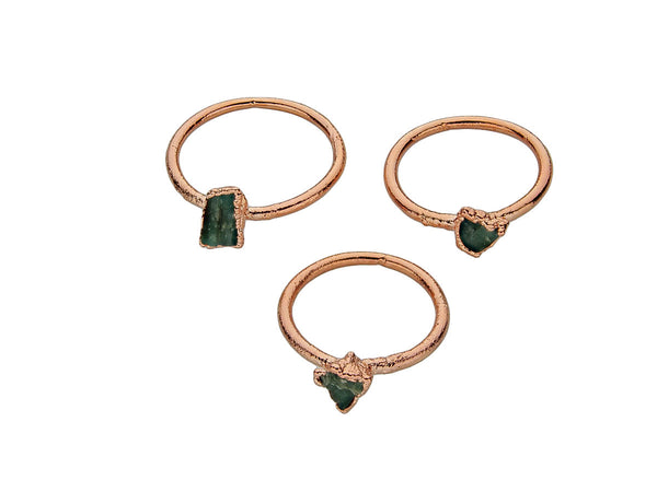 May Birthstone Jewelry | Emerald Stacking Ring-Ring-Drishti Handmade