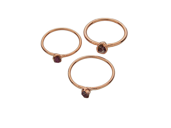 July Birthstone Jewelry | Ruby Stacking Ring