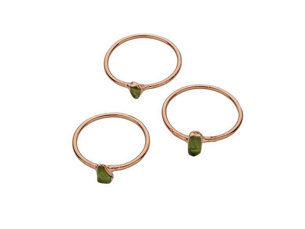 August Birthstone Jewelry | Peridot Stacking Ring