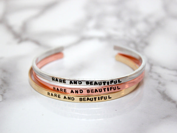 Rare and Beautiful | Stamped Skinny Cuff